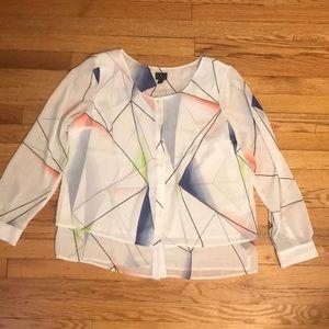 Women's Worthington Sheer Long Sleeve Blouse NWT